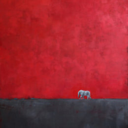 African Elephant, 2012. Oil On Canvas, 48 X 36 In. (121.9 X 91.4 Cm)